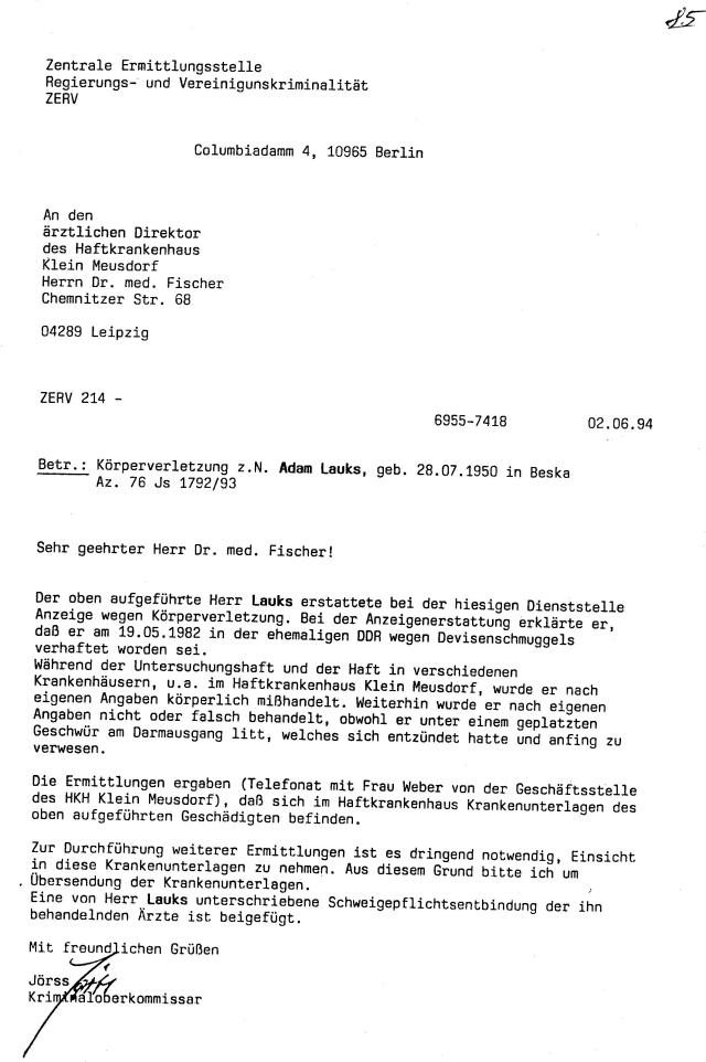 30 Js 1792 93 Ermittlungsverfahren der Staatsanwaltschaft II Bln 037