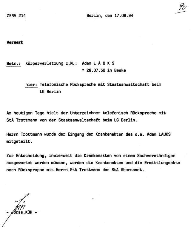 30 Js 1792 93 Ermittlungsverfahren der Staatsanwaltschaft II Bln 042