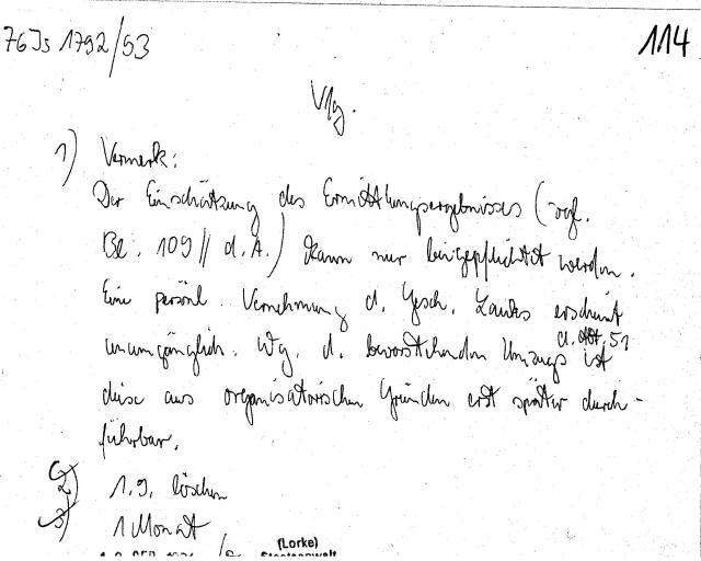 30 Js 1792 93 Ermittlungsverfahren der Staatsanwaltschaft II Bln 071
