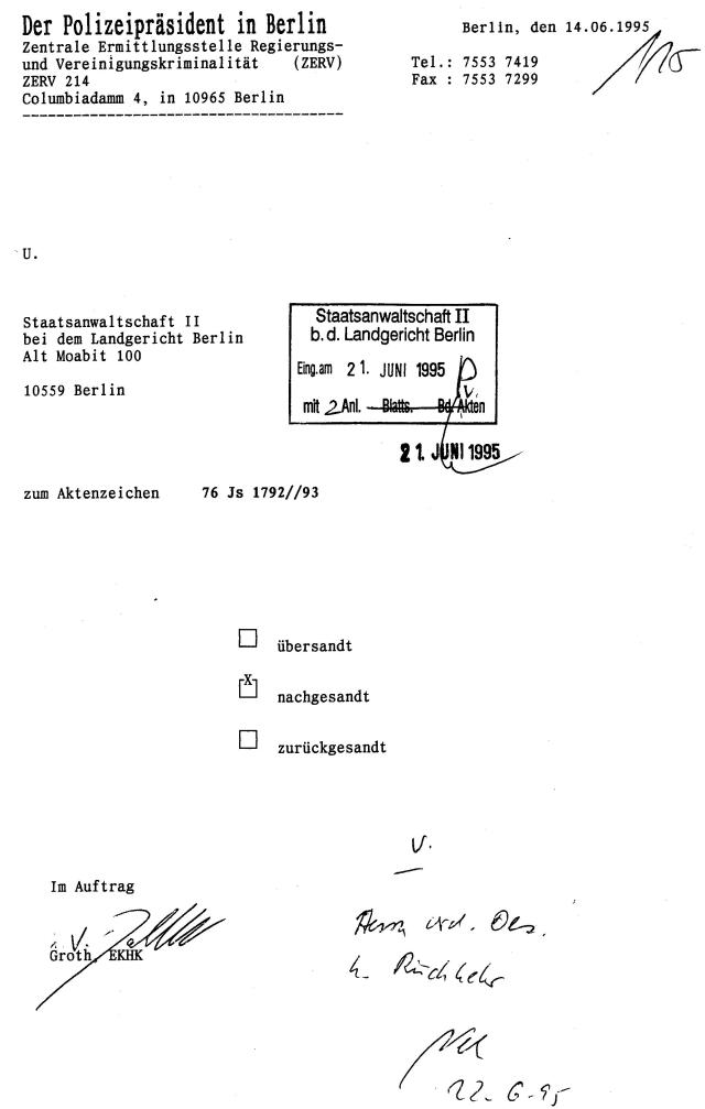 30 Js 1792 93 Ermittlungsverfahren der Staatsanwaltschaft II Bln 072