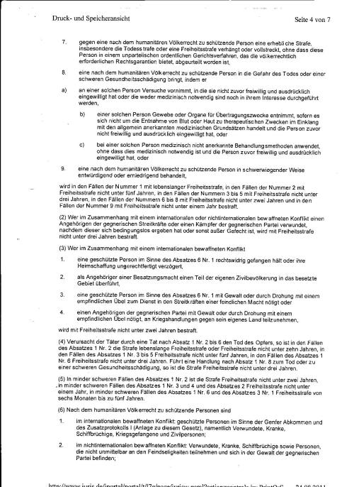 Ermittlungsverfahren auf Strafantrag wg. Folter 272 Js 2215 -11 004