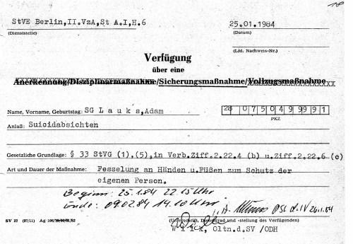 Evidence of torture - Beweis für Folter