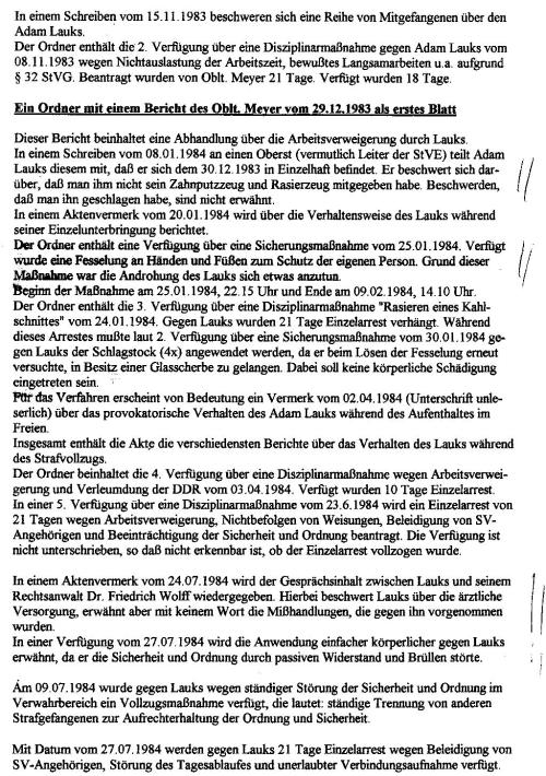 Akten - Beweise - Unterdrückung §258a Gauck und StAII 1992-1997 004