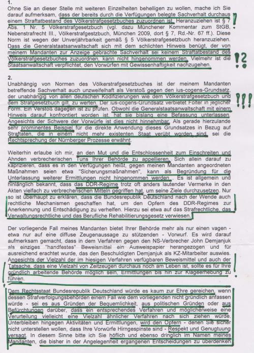 An das Bundesministerium der Justiz -Senatsverwaltung Berlin 001