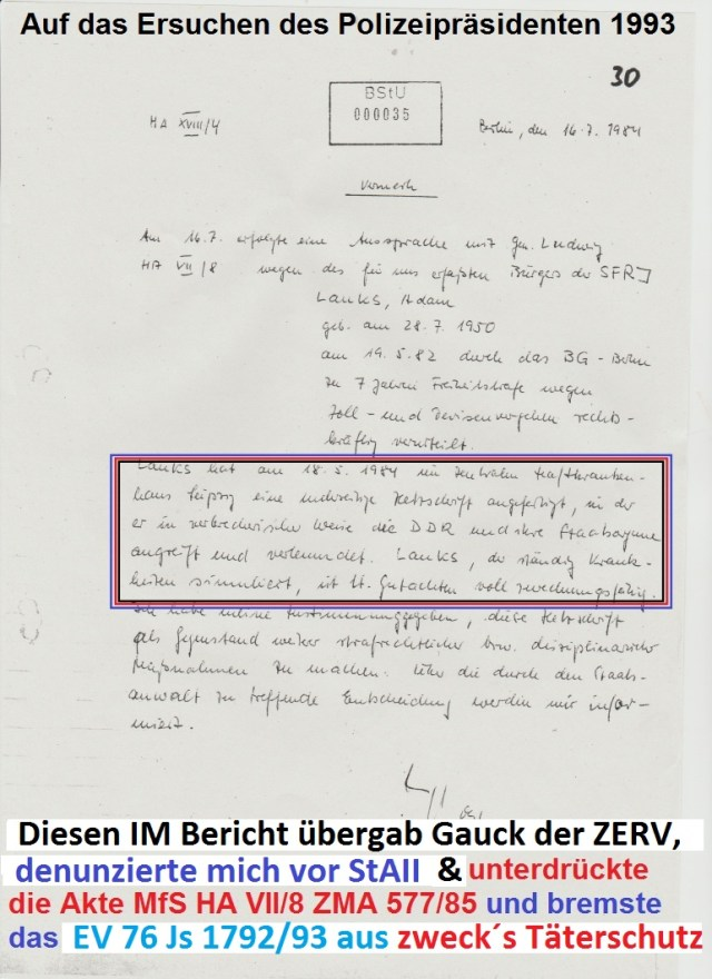 Joachim Gauck war ein Denunziant