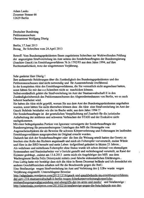 21 Jahre nach der Ehrenerklärung des Deutschen Bundestages...
