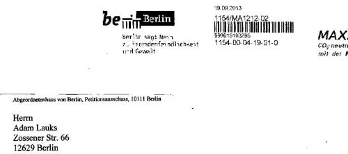 Staatsanwaltschaft Berlin  hält Abgeordnetenhaus f. dumm