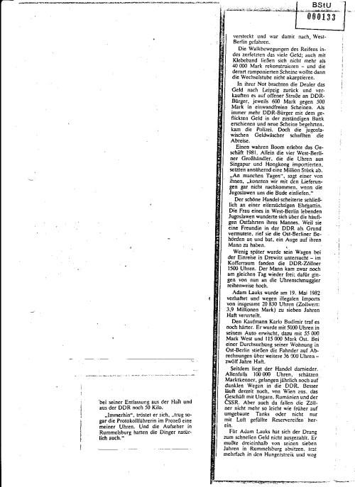 SPIEGEL brachte einen STASI-kompatiblen Bericht und verschleierte eine der größten Wirtschaftsdiversionen in den Achzigern die die elitärste HV des MfS auf den Plan riefen und die eine der größten Niederlage hinnemen musste.