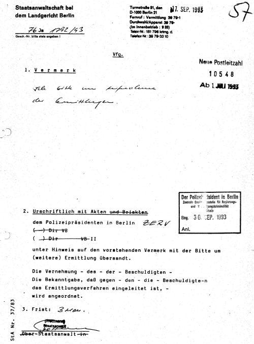 30 Js 1792 93 Ermittlungsverfahren der Staatsanwaltschaft II Bln 008