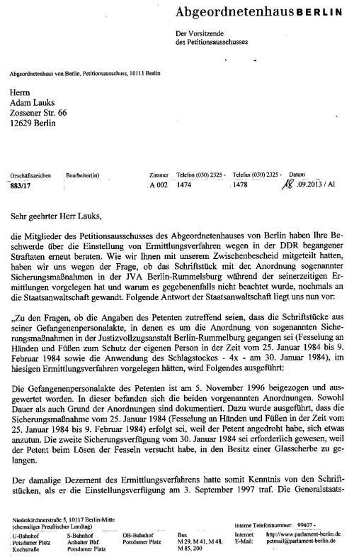 Staatsanwaltschaft Berlin hält Abgeordnetenhaus f. dumm 001