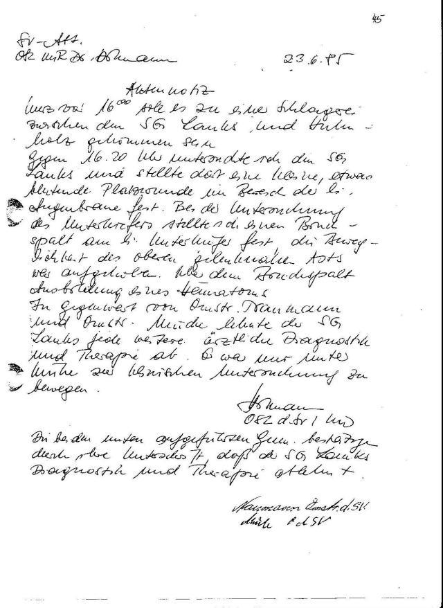 Major Dr.Hillmann 23.6.1985