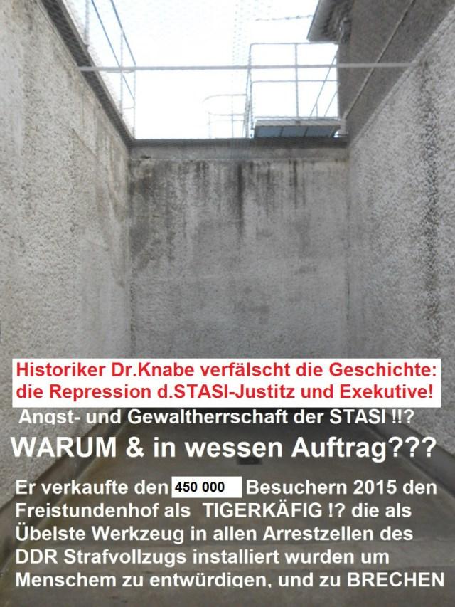 Eine der drei Freistundenbuchten in der Ehemaligen STASI -Uhaft Berlin HSH