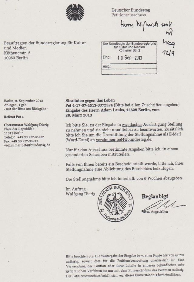 Wird der Bundestagspräsident nicht für voll genommen !??