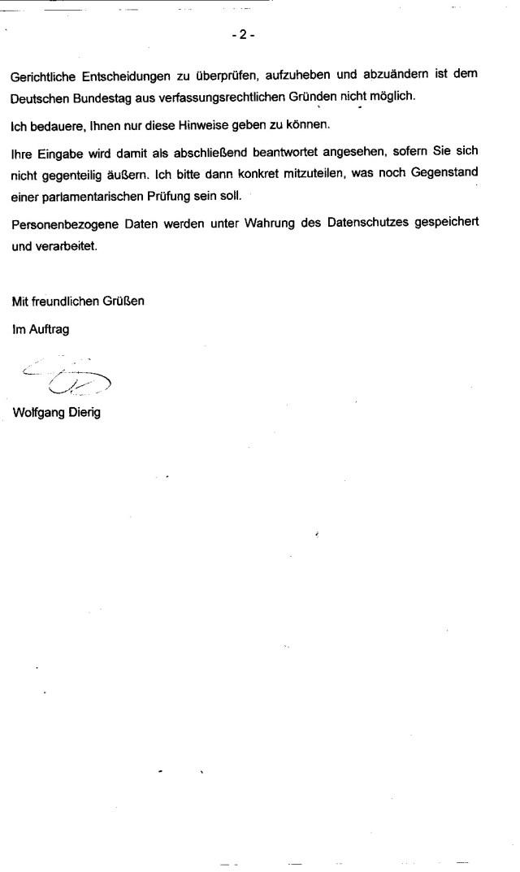 Wurde mein Brief an den Bprof.Dr. Lammert gelesen !?
