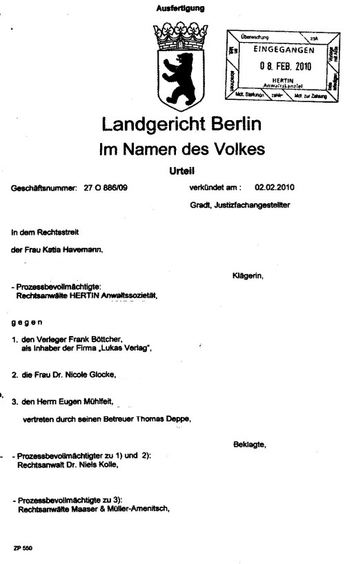 Schmuggel ist NICHT EHRENRÜHRIG -Richter M.Mauck