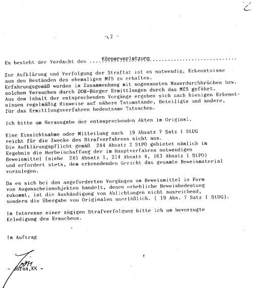 Da gab es nicht zu deuteln.Der Weg innerhalb der Gauck Behörde dauerte 10 Tage !??