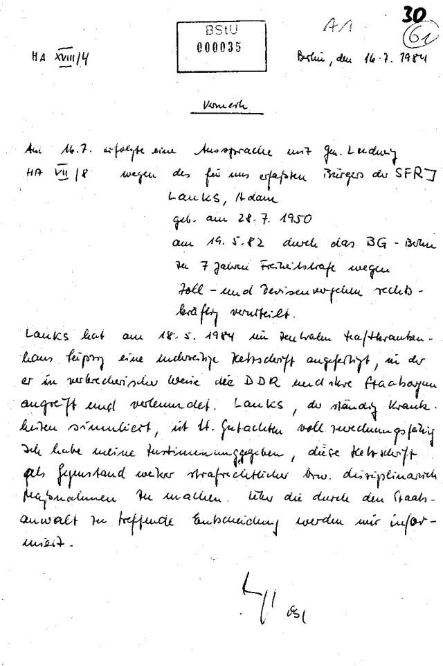 DAFÜR wurde die Gaucks Behörde nicht ins Leben gerufen!