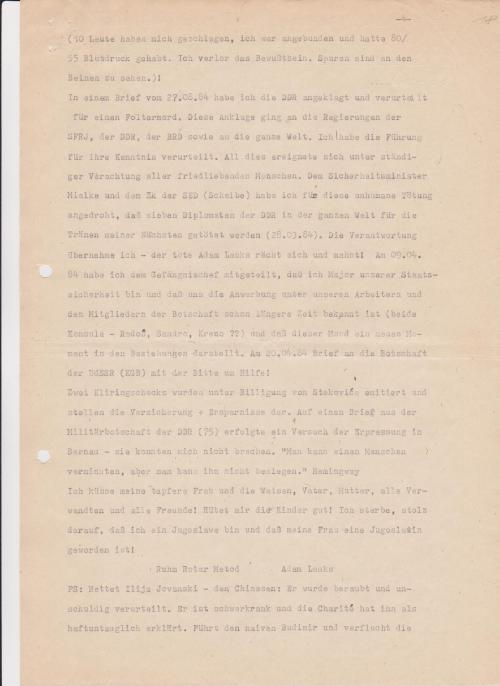 Blatt 18 der Gefangenenpersonalakte...