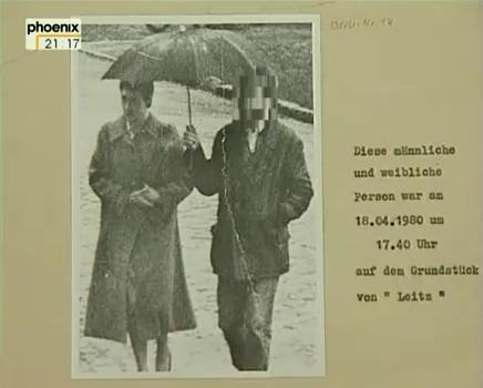Stasi-Foto vor dem Haus von  Robert Havemann alias OV Leitz, 18.04.1980