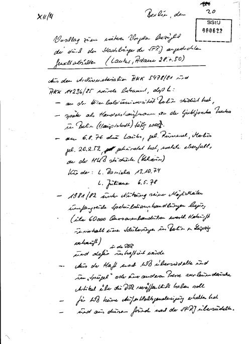 Wir erfahren dass es einen Ausländerarchiv gibt, und für SIE entlarvende Akkte mit der Signatur AKK 14236/85 und 5478/81, Sie kannten den OV VORGANG MERKUR - die größte Niederlage des Mfs in den 1979-1983 !