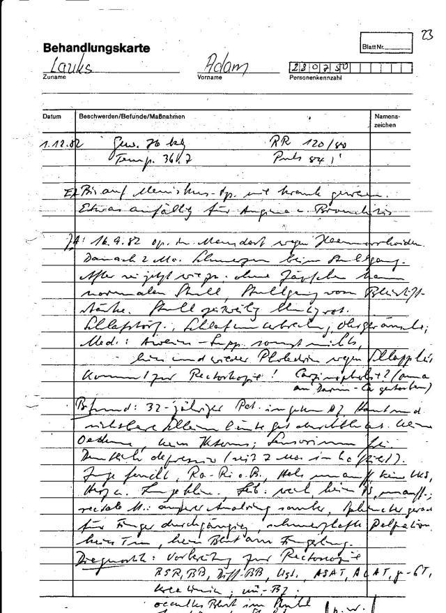 Die erste Vorstellung im Haus 8 von Berlin Rummelsburg: SG Arzt Dr. Schmidt saß wegen Vergewaltigung seiner seelisch behinderter Stieftochter..