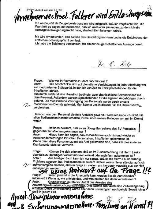 Krönung der juristischen Aufarbeitung: Folterknecht wird zum Zeugen berufen von der ZERV 214