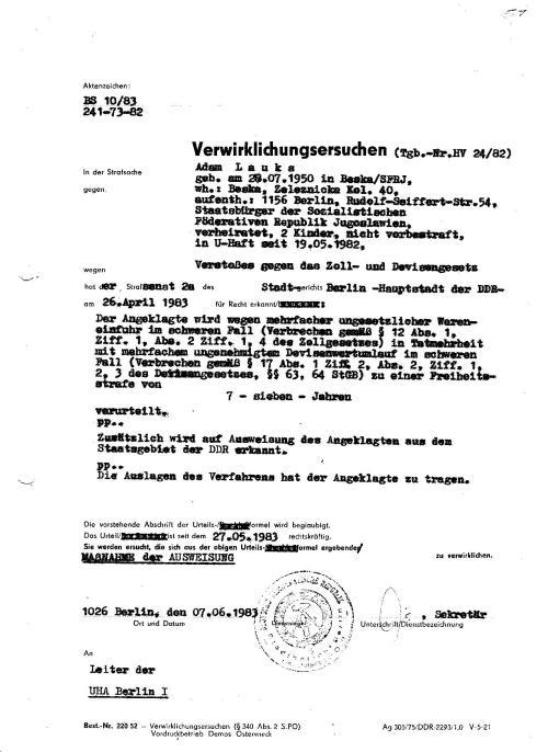 Die Kopie der Akte mit der laufenden Nr. 50 aus der E-Akte
