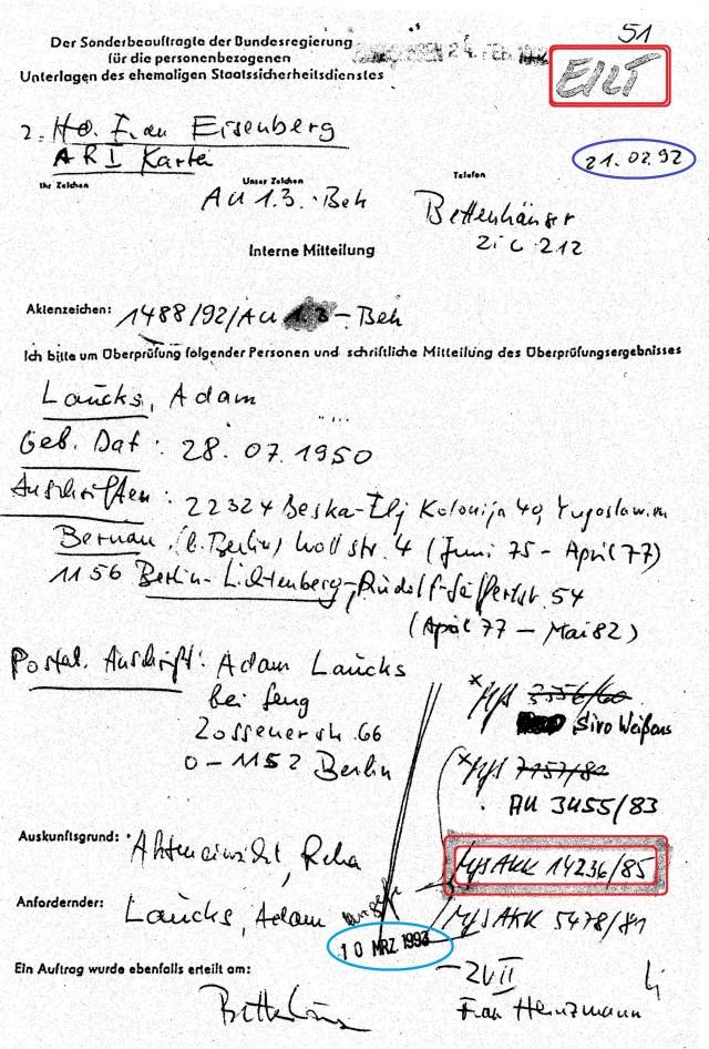 Dr. Geiger  ... leitete auf Weisung von Gauck selbst die Recherche ein