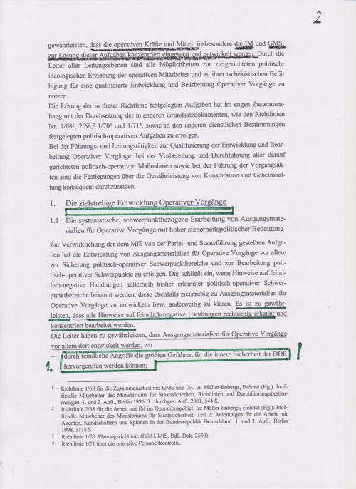 Richtlinie 1/76 - Richtline für Zersetzung von Menschen und Familien, hat der Doppelmörder Mielke ausgearbeitet- es war nichts dem Zifall überlassen.