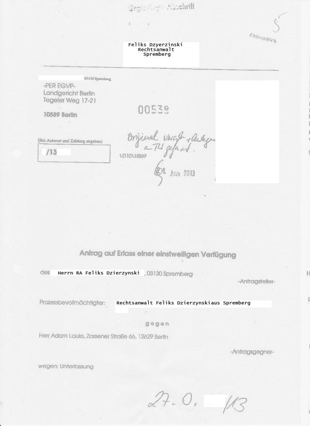 Was die Staatsanwältin ermittelt hatte war 27 O 55/13...und musste ihre Ermittlungen dem Beschluss, bzw. späteren Urteil unterwerfen - anpassen: Ermittlungsverfahren einstellen !