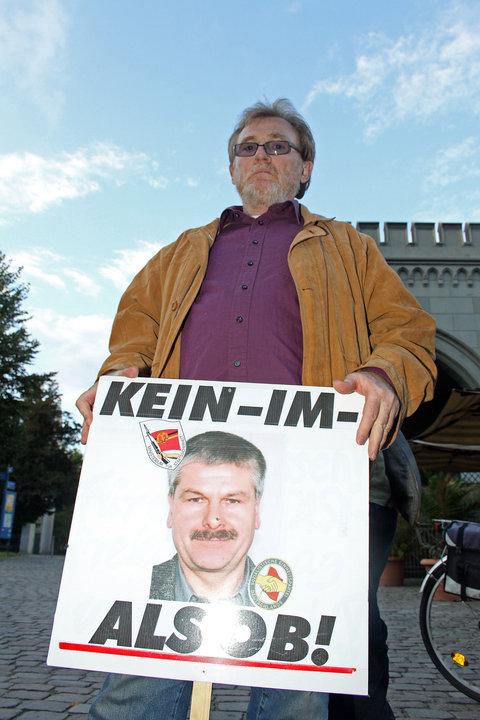 """IM """"Scharfenberg"""" wurde niederdemonstriert als Kandidat für OB von Potsdam"""