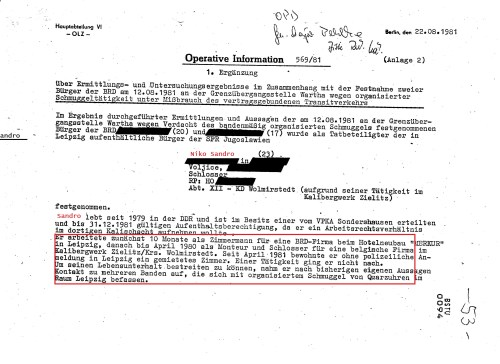 Operative Information 569/81 - 1. Ergänzung