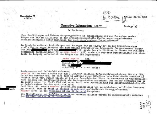 Operative Information 602/81 - 2.Ergänzung :