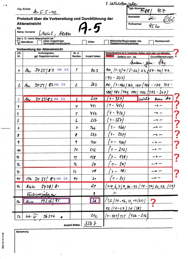 Anlage 5 =Protokoll über die Vorbereitung und durchführung der Akteneinsicht 001