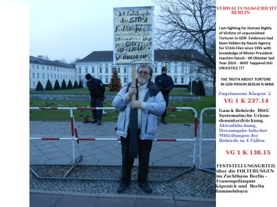 DARUM ? - Verbrecherische Urkundenunterdrückung zum Schutz der STASI und deren Schergen.