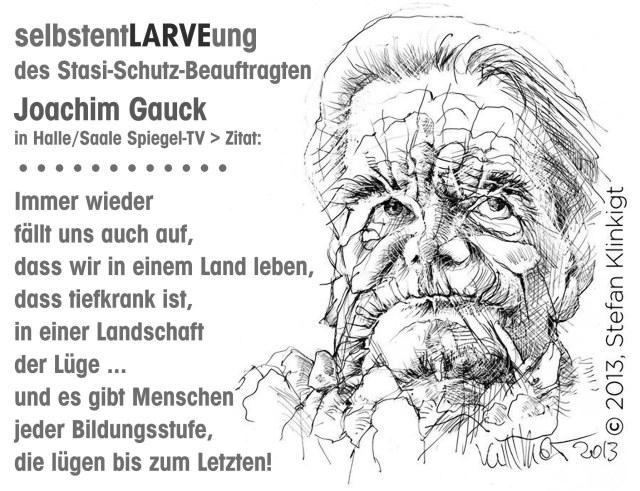 Gauck Landschaft der Luege Land tiefkrank