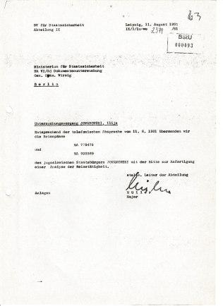 Ilija Jovanovski verfügte über zwei gültige Reisepässe. Analyse der Reisetätigkeit musste her.