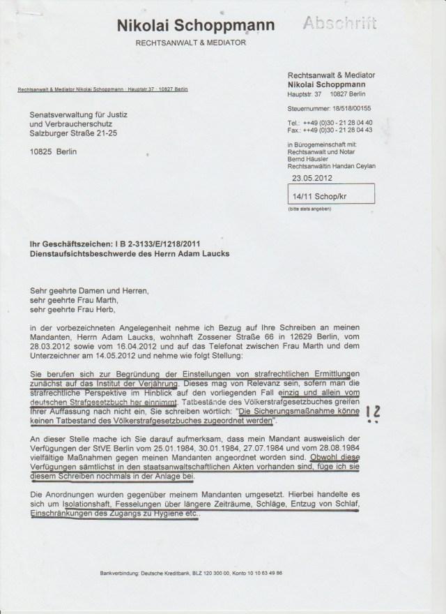 Mangel an § FOLTER im StGB - Verfahren wegen Verjährung eingestellt