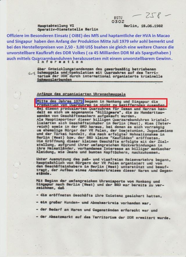 Die Anfangsinformation war aus 1981 aus Unkenntnis und Unwissenheit entstanden, als der Komissar Zufall dem MfSverkappte Schmuggler - eigentlich Transitumkehrere in die Hände spülte.