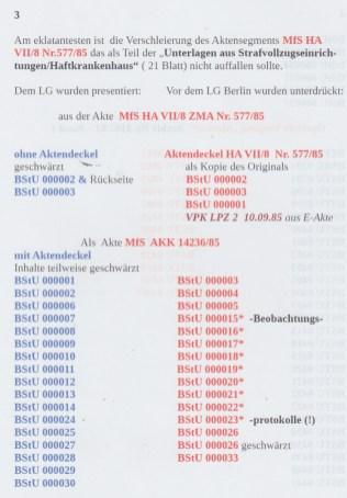 Urkundenunterdrückung und Aktenmanipulation der BStU 23.1.2018 Seite 3