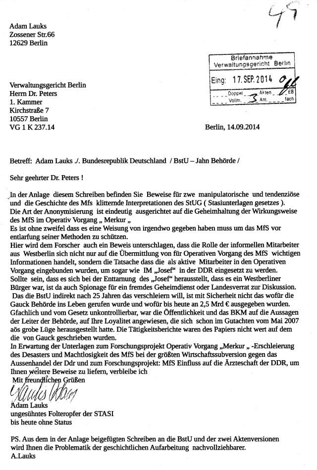 VG 1 K 237.14 Blatt 49 Lauks vs Deutschland