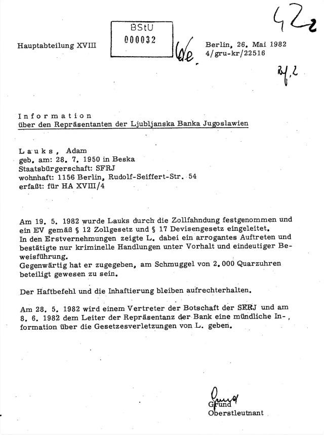 """Richtlinie 1/76 des Minister Mielke: """"Um jemanden festzunehmen bedarf es keine Beweise. die werden erarbeitet"""