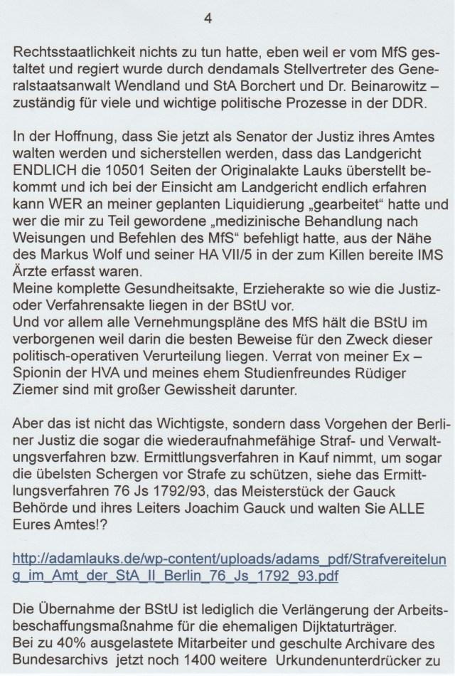 Dienstaufsichtsbeschwerde gegen die Berliner Justiz 23.10.19