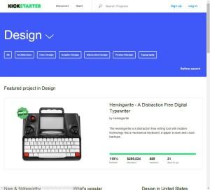 Kickstarter Featured Project in Design