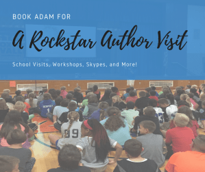 Book Adam for a Rockstar Author Visit