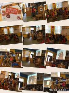 Skype author visit with Higdon Elementary