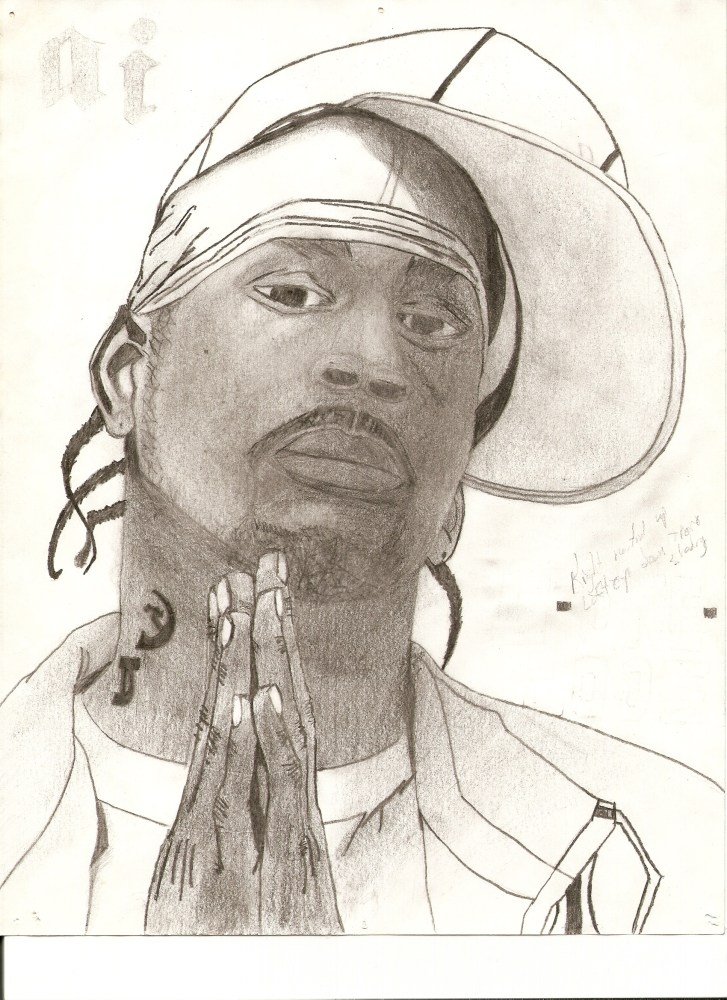 Past drawings 2 - Allen Iverson 'I Am What I Am