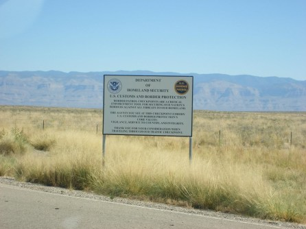 Border Patrol checkpoint near White Sands
