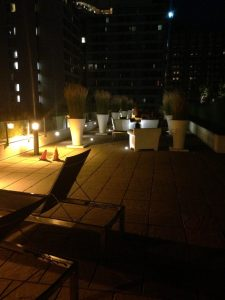 Condo had a sick patio area on the roof