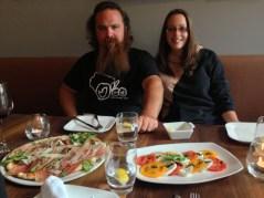 Dan and Cara at Lo Zingaro Ristorante Pizzeria